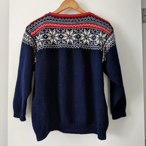 Vintage fair isle wool sweater m